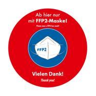 """Outdoor Bodenaufkleber """"FFP2-Maske tragen"""""""