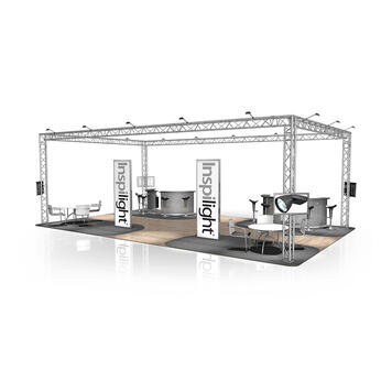 Messestand FD 33, 10.000 mm x 3.500 mm x 6.000 mm (B x H x T)