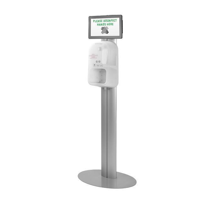 """Hygienestation """"Score"""" mit Steripower-Handdesinfektionsgerät, inkl. Bildschirm"""