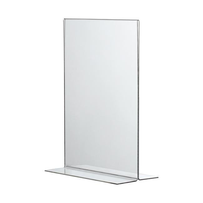 """Menükartenhalter """"T-Form"""" in DIN-Formaten, glasklar, 2 mm"""