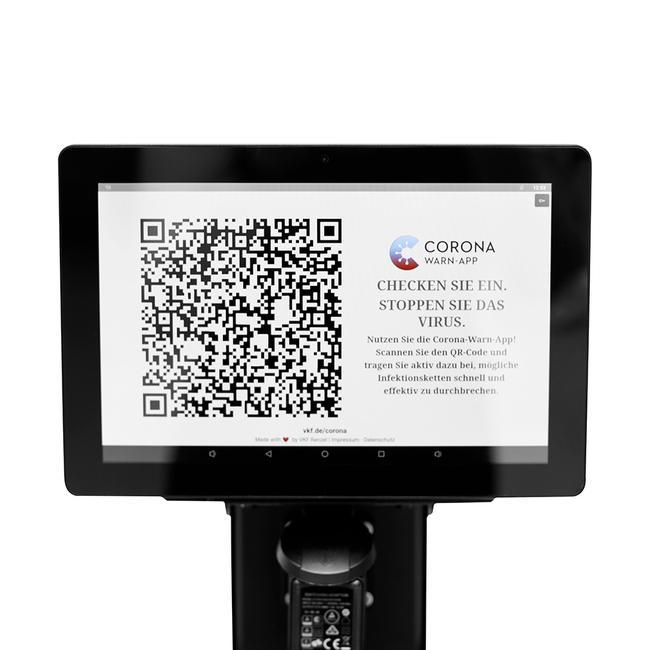 Interaktives POS-Tablet für Absperrständer