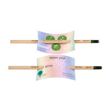 """Bleistifte """"Sprout"""",  mit Werbekarte"""