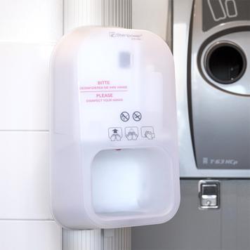 """Hygienestation """"Score"""" mit Steripower-Handdesinfektionsgerät"""